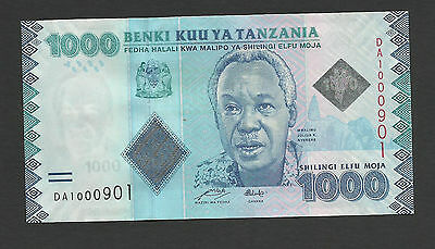 Uncirculated Banknote 1000 Shillings Nyerere BANK OF TANZANIA UNC