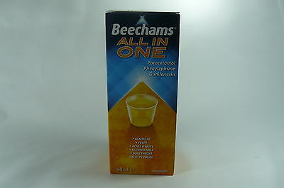 BEECHAMS ALL in ONE LIQUID 2x160ml FLU COUGH COLD FEVER BLOCKED NOSE EXP 03/2017