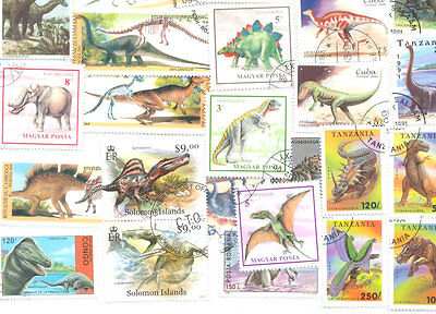 Prehistoric Wildlife collection 200 all different stamps-reptiles-Sealife etc