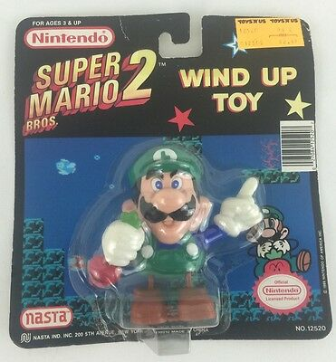 Super Mario Bros. 2 Luigi Wind Up Toy Nintendo Nasta New 1989