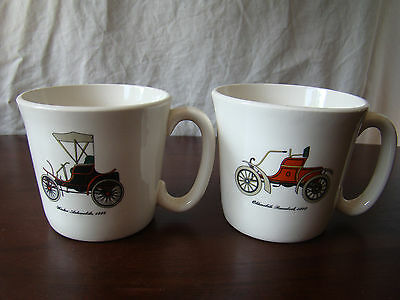 Pair of Vintage Mugs with Antique Classic Cars 181604
