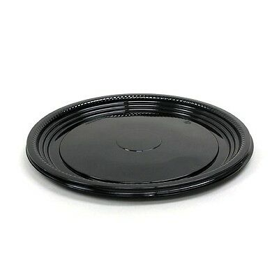 Caterline Casuals Black Round Catering Trays - 12 inch