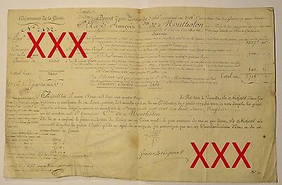 LUDWIG XVI. & CHARLES GRAVIER - orig. Autograph - 1780 - COA - signed - Louis