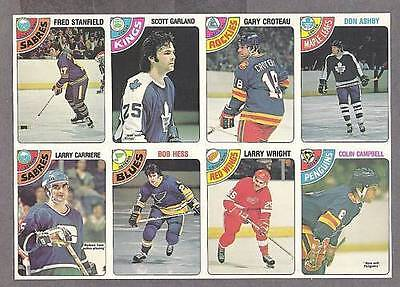 1978-79 OPC Proof 8-Panel, Stanfield, Carriere,Campbell
