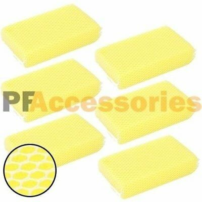 6x Nylon Mesh Bug Soft Scrubber Sponge for Car Wash NO SCRATCH on Glass & Paint