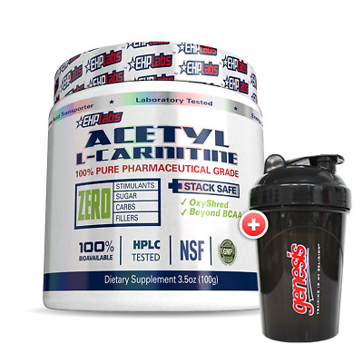 EHPLabs Acetyl L-Carnitine *100 Serves* ALCAR EHP Labs + FREE Shaker!