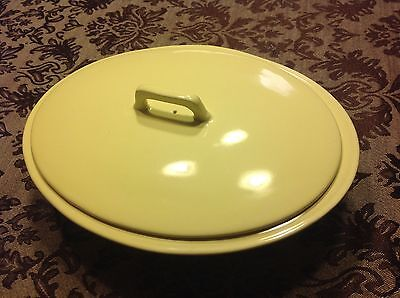 Rare Coors Mello-Tone Pastel Pottery yellow Casserole Covered
