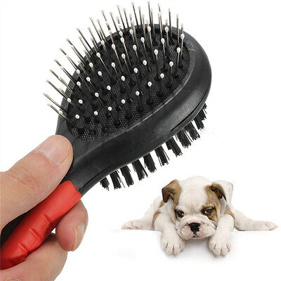 Double Sided Pet Dog Cat Hair Brush Grooming Comb Shedding Fur Cleaner Bristle