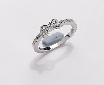Sterling Silver Platinum Plated Childs Kiss Ring   Sizes A - F