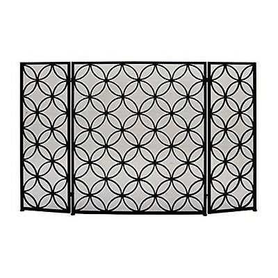 "Benzara 50377 Striking Metal Fire Screen 48"" W x 30"" H NEW"