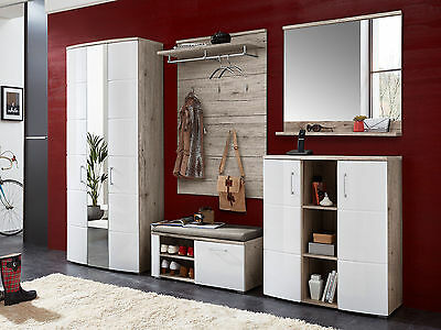 garderobe komplett set flurgarderobe dielengarderobe diele flur m bel susie i eur 799 95. Black Bedroom Furniture Sets. Home Design Ideas