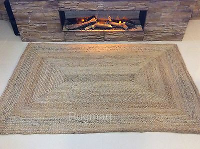 Natural 100% Jute Reversible ECO FRIENDLY CHUNKY Braided IN & OUTDOOR Rug Runner