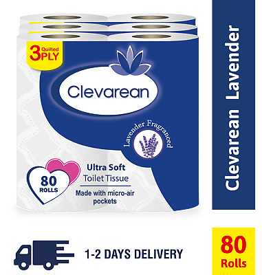 144 Toilet Rolls 2 Ply 200 Sheet 2Ply Tissue Luxury Quilted Paper 4 Cases Jumbo