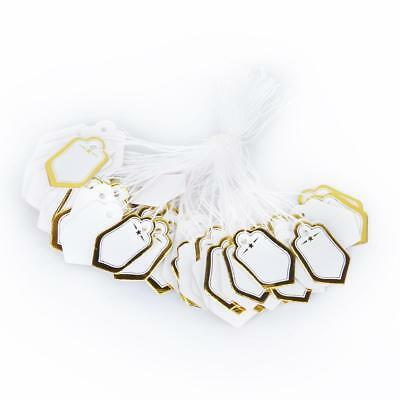 500pcs Price Labels Watch Jewelry Clothing Display Swing String Stung Tags