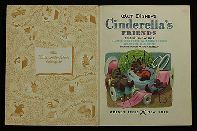 Walt Disney's - Cinderella's Friends - A Little Book- Golden Press New York 1950