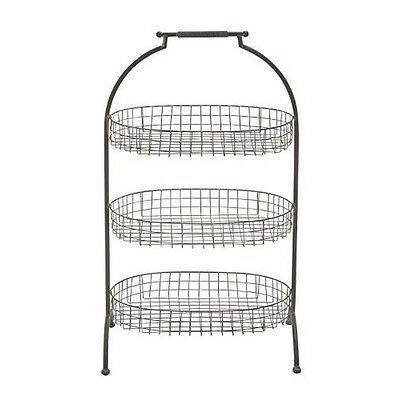 Deco 79 56829 3-Tier Metal Basket Tray 20 by 35-Inch NEW
