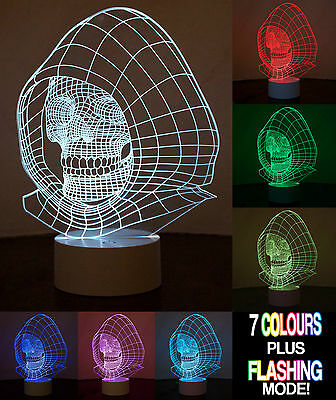 Optical Illusion 3D Skull Lamp - Totenkopf Lampe