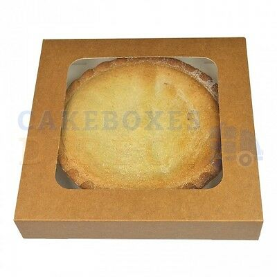 8 x 8 x 1.5 inch KRAFT PIE BOX - CHOOSE YOUR QUANTITY