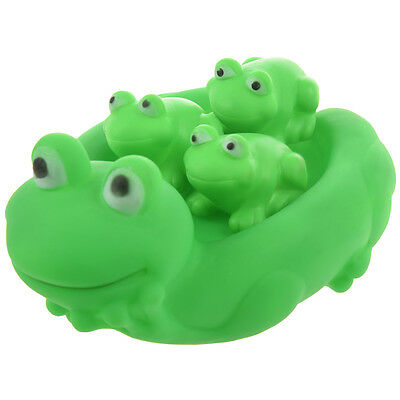 Lovely Mummy and Baby Rubber Frog Squeaky Bath Toy AD