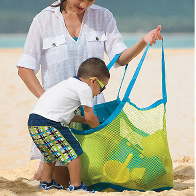 Sand Away Mesh Beach Bag Pack Pouch Portable Carrying Toys XL Size Multi Color