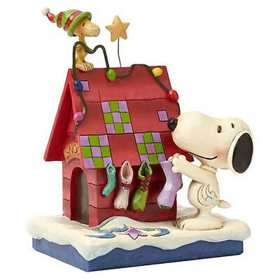 Peanuts Traditions, Snoopy and Woodstock Prepping for Santa, Jim Shore