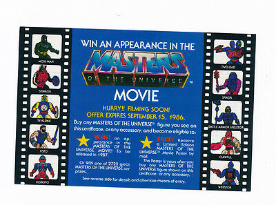He-Man and the Masters of the Universe Movie Ad Contest Action Figure Poster