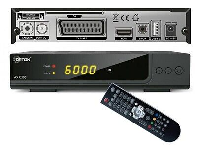 HD Kabel Receiver Opticum AX C 305 DVB-C HDMI USB Scart EPG S/PDIF digital HDTV