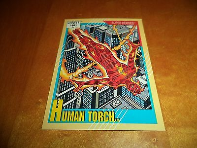 Human Torch # 10 - 1991 Marvel Universe Series 2 Impel Base Trading Card