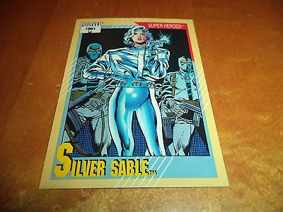 Silver Sable # 21 - 1991 Marvel Universe Series 2 Impel Base Trading Card