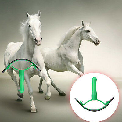 New High Quality Horse Sweat Scraper Horse Cattle Cleaning Tickling Tool Green