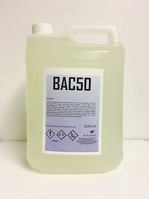 Benzalkonium Chloride, BAC50 Algaecide, Bactericide And Fungicide - (1x5 Litres)