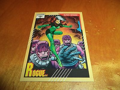 Rogue # 42 - 1991 Marvel Universe Series 2 Impel Base Trading Card