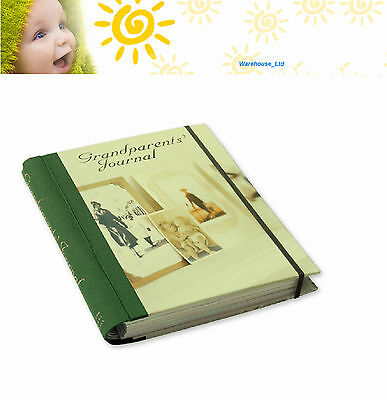 Grandparents Journal Hard Cover Dividers Grandchildren Photo Pages Family Record