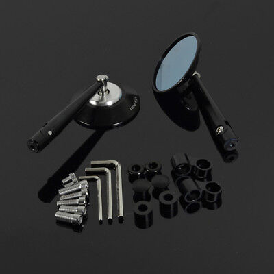 CNC Aluminum Universal Side Rear Round Rearview Mirrors Motorcycle Street Bike