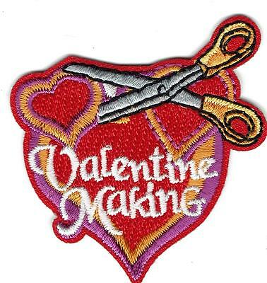 girl boy cub VALENTINE MAKING Fun Patches Crests Badges SCOUTS GUIDES card box