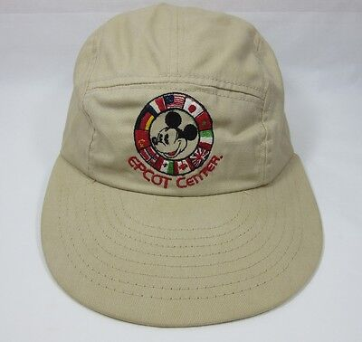 Vintage Mid Century Epcot Center 1930's Mickey Mouse Disney Collectible Hat USA