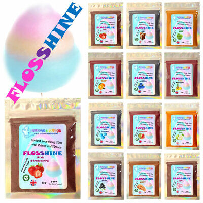 FLOSSINE STRAWBERRY RED 12g mix, for 1-2kg of sugar 17 flavours & 7 colours