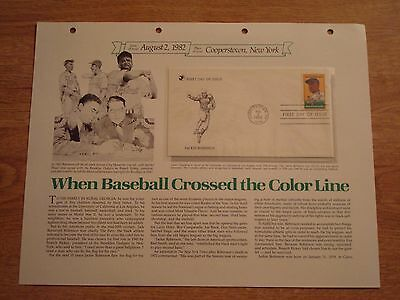 August 2,1982 Jackie Robinson 1st Day Of Issue Stamp & Envelope-Reader's Digest