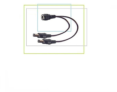 Audioconnext C-212 Effects Pedal Power Supply Splitter 2-Way Cable