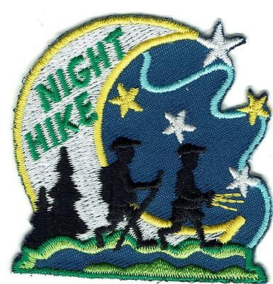 Girl Boy Cub NIGHT HIKE Fun Patches Crest Badge SCOUTS GUIDE late evening Hiking