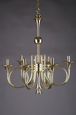 F-Ra-59 Ceiling chandelier Lamp Light in Form of 6 Hunting horns