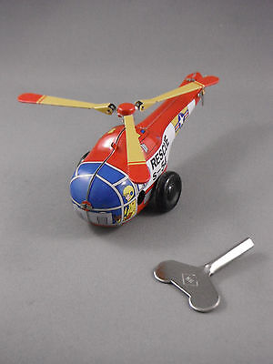 Tin Toy - Small Rescue Helicopter - Wind Up