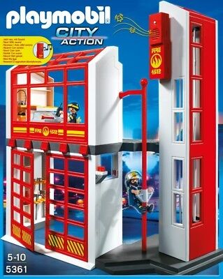 Playmobil     Fire Station With Alarm 5361 Fire and Police