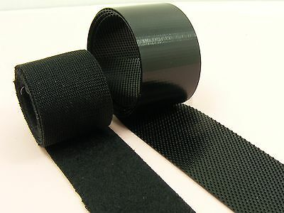 Ultra THIN & Soft BLACK 20mm Width SEW On HOOK and  LOOP Fastener TAPE