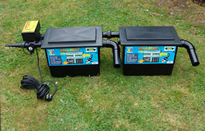 Mega Twin Black Box Pond / Koi Pool Filter - With 11W UV & 40W Pump | Full Kit