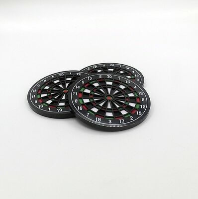 Dart Glasuntersetzer 4er Set - Dartboard Coasters