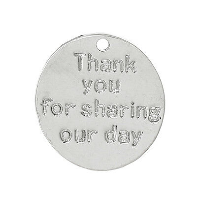 10 SILVER Thank you for sharing our day TAGS~Weddings~Birthdays~Favours (9J)