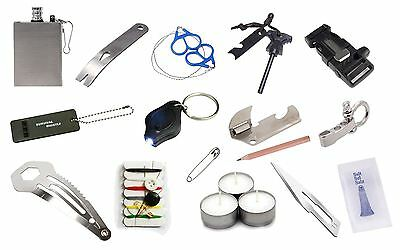EDC Emergency Survival Tin Kit Bushcraft Multi Tools