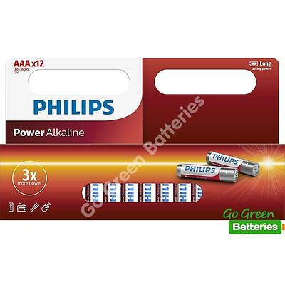 48 x Philips AAA Power Alkaline Batteries 1.5V LR03, MX2400, MICRO