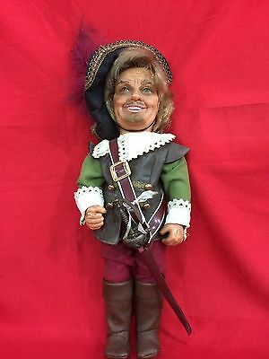 Vintage German Handcraft Medieval Soldier Warrior Doll Cute Highly Collectible